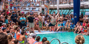 Belly Flop Contest on Adventure of the Seas (Photo: Cruise Critic)