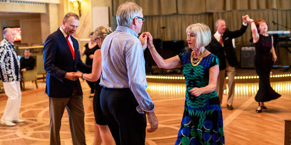 Couples Ballroom Dancing in the Queens Room on Queen Victoria (Photo: Cruise Critic)