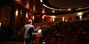 Insights Programme Lecture in Illuminations (Photo: Cunard Cruise Line)