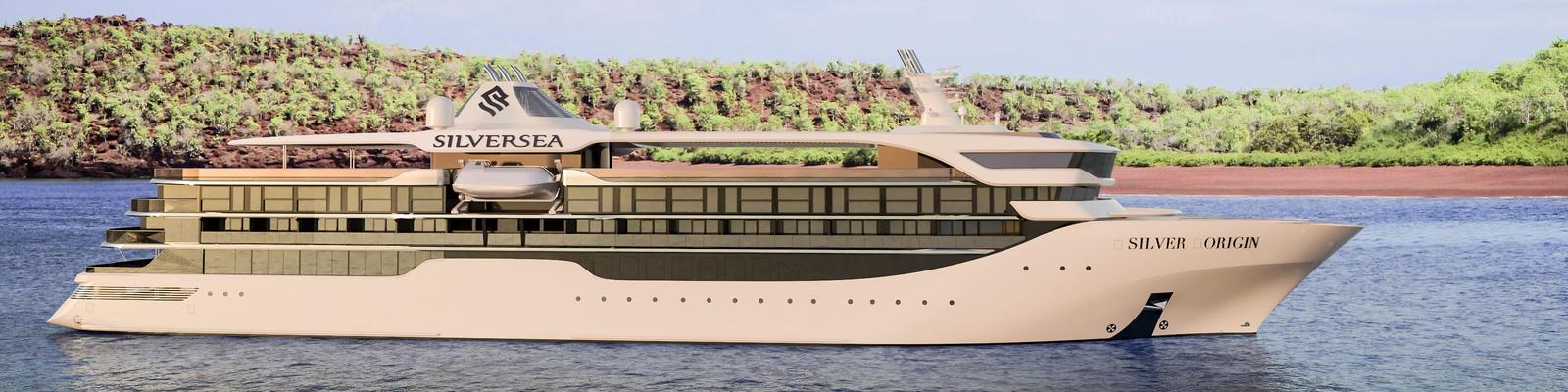 Artist rendering of Silverseas' forthcoming ship Silver Origin (Image: Silversea Cruises)
