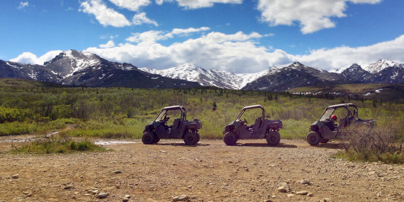 ATVs lined-up at Denali National Park (Photo: La Paloma in the City/Shutterstock)