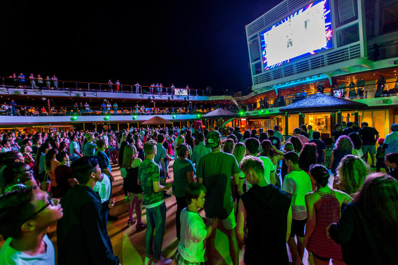 The Deck Parties on Carnival Vista