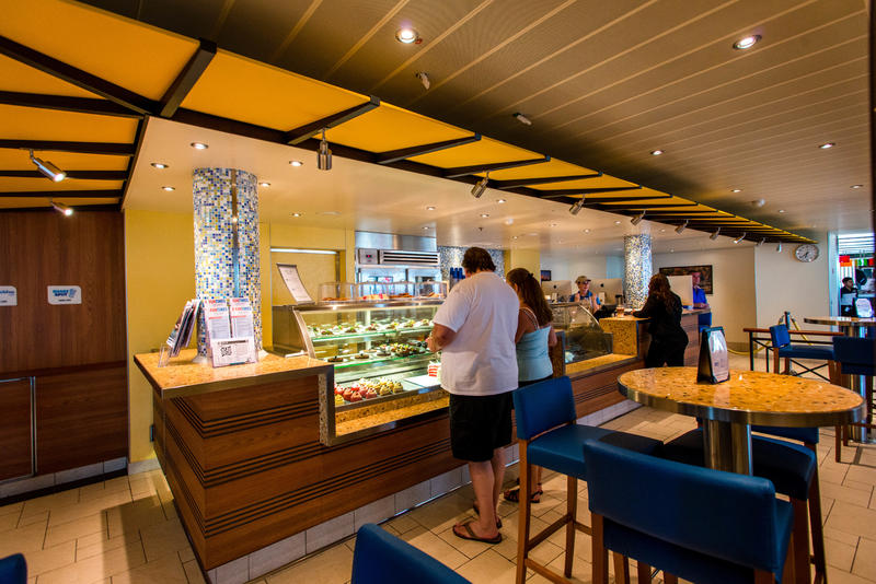 Java Blue Cafe and Shake Spot on Carnival Vista