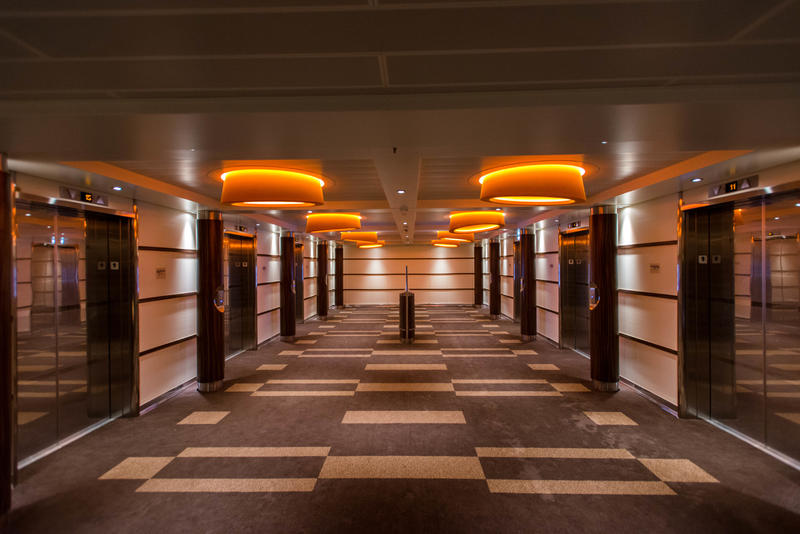Elevators on Carnival Vista