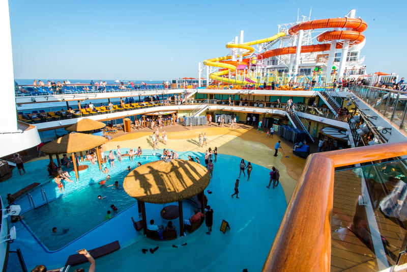 Beach Pool On Carnival Vista Cruise Ship