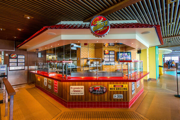 Guy's Burger Joint on Carnival Vista (Photo: Cruise Critic)