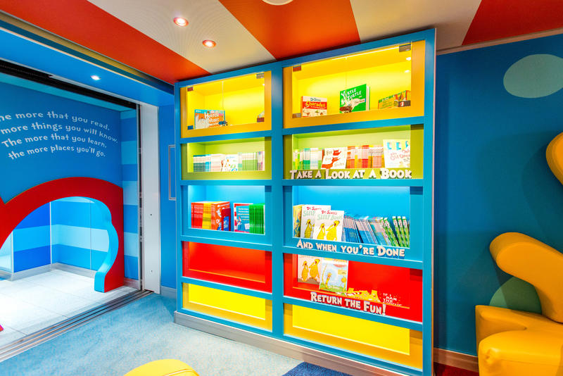 Dr. Seuss Bookville on Carnival Vista