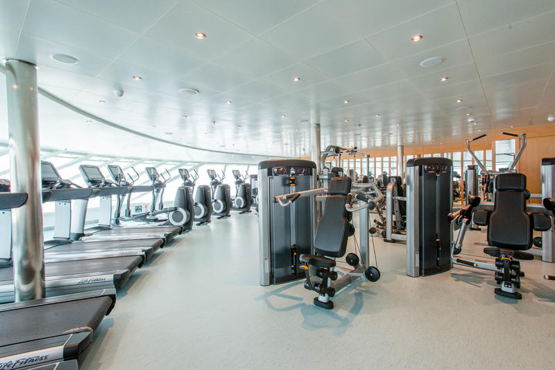 Fitness Center on Carnival Vista