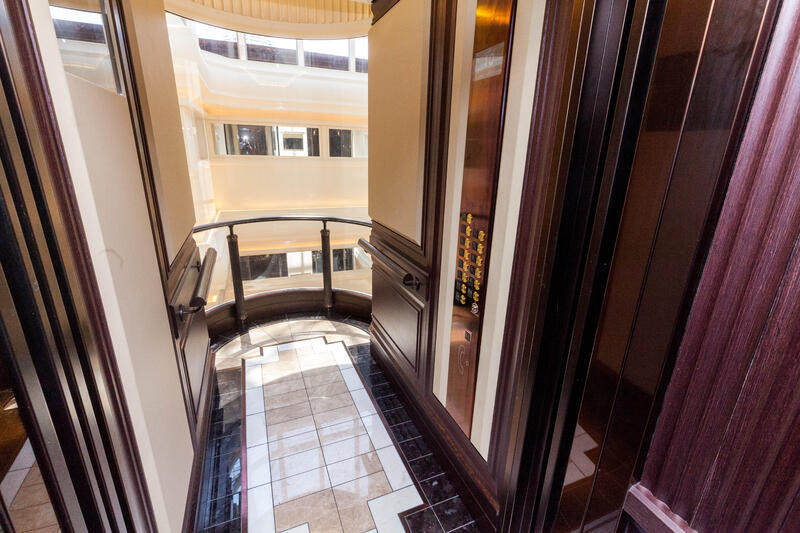 Elevators on Seven Seas Explorer