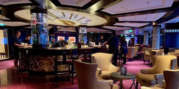 Ensemble Lounge onboard Celebrity Eclipse cruise ship (Photo: Louise Goldsbury)