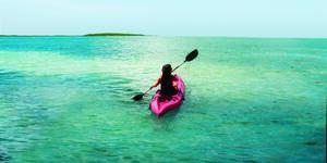 Woman Kayaking at Great Stirrup Cay (Photo: Norwegian Cruise Line)