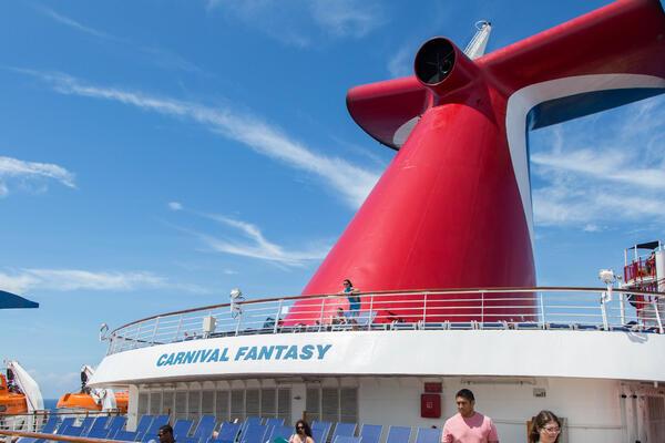 The Sun Decks on Carnival Fantasy