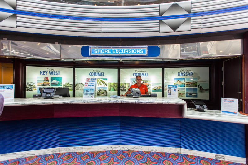 Shore Excursions Desk on Carnival Fantasy
