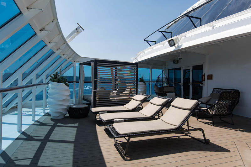 The Sanctum Spa Terrace on Azamara Journey