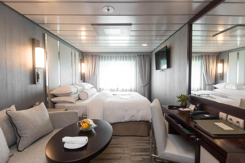 The Club Oceanview Cabin on Azamara Journey