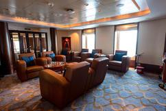 Cunard Queen Mary 2 (QM2) Churchill's Cigar Lounge Photos