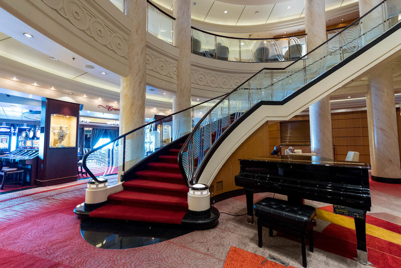 Grand Lobby on Queen Mary 2 (QM2)