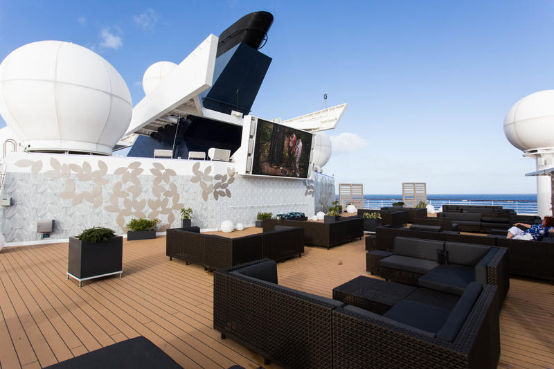 Rooftop Terrace on Celebrity Infinity