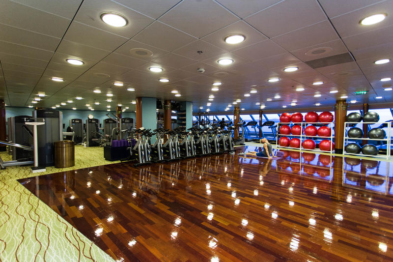Fitness Center on Celebrity Infinity