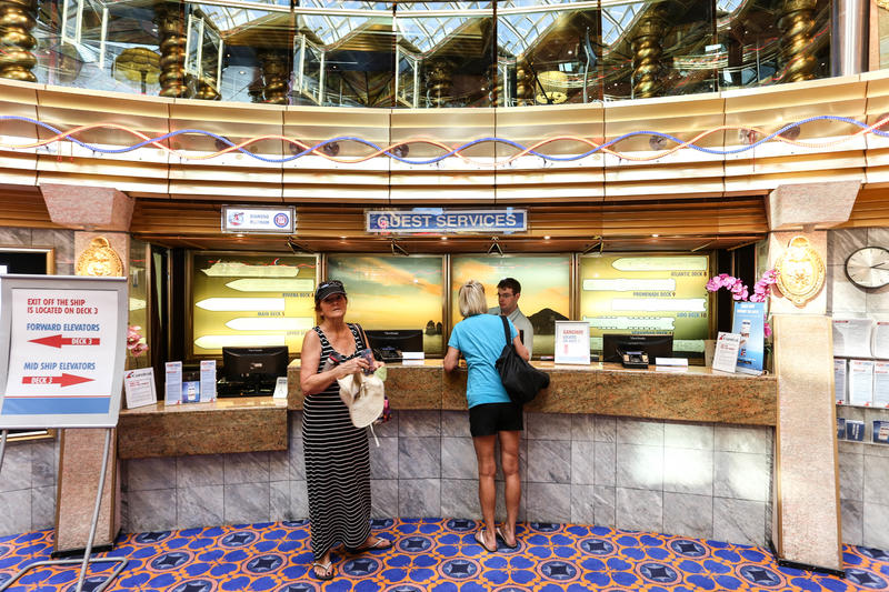 Passenger Services Desk on Carnival Imagination