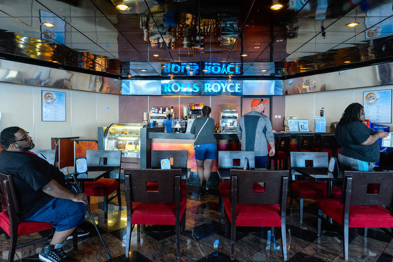 Rolls Royce Cafe on Carnival Ecstasy