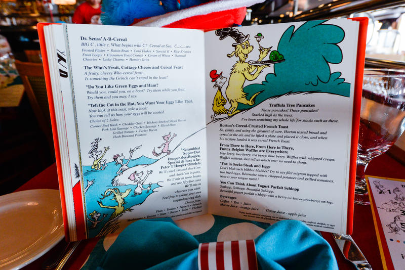 Dr. Seuss Green Eggs and Ham Breakfast on Carnival Ecstasy
