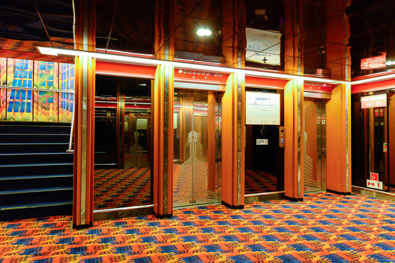 Elevators on Carnival Ecstasy