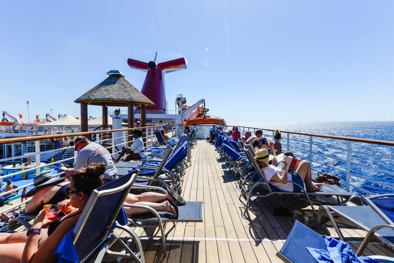 Verandah Deck on Carnival Ecstasy