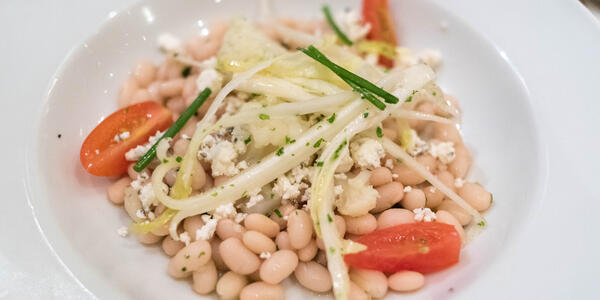 Vegetarian appetizer in The Grand Dining Room on Marina (Photo: Cruise Critic)