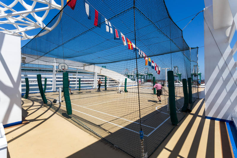Sports Court on Island Princess