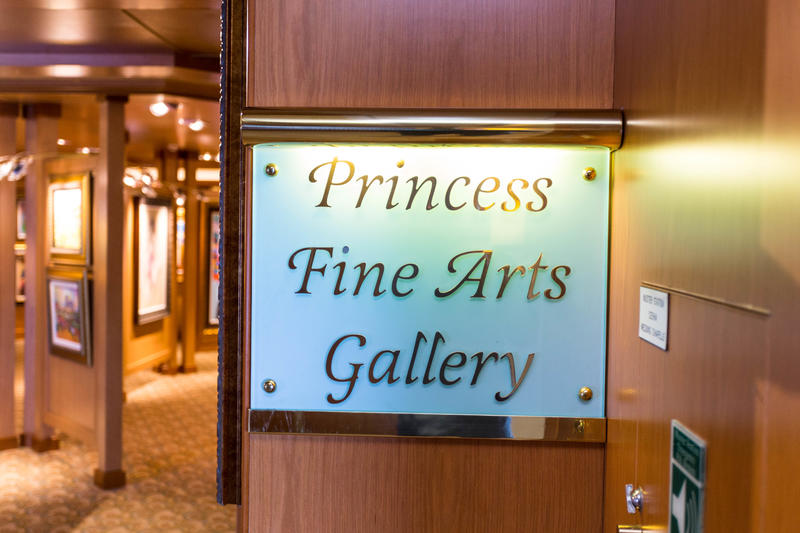 Art Gallery on Island Princess