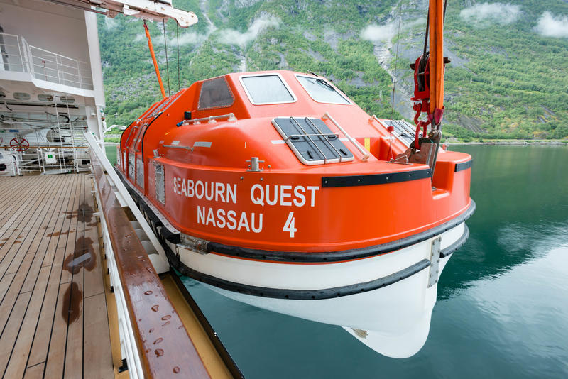 Tender Boat on Seabourn Quest