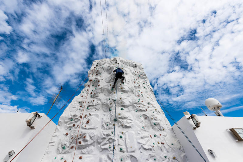 Rock Climbing Wall on Norwegian Pearl