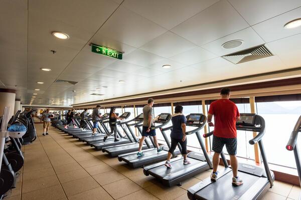 Fitness Center on Norwegian Pearl