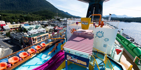 The Carnival WaterWorks on Carnival Legend (Photo: Cruise Critic)