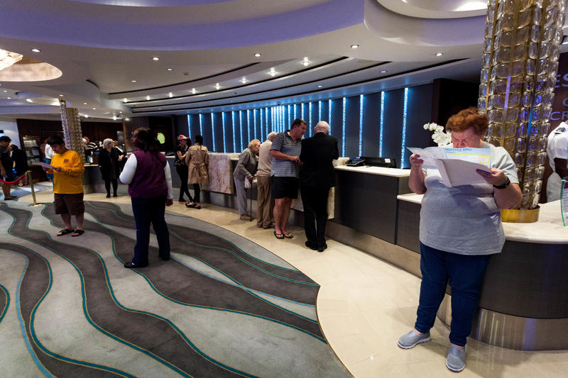 Guest Services Desk on Norwegian Jade