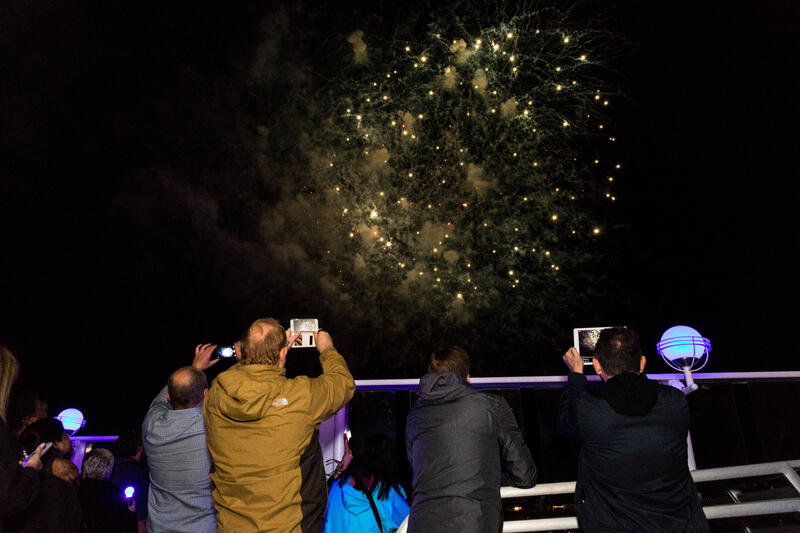 Fireworks from the Ship on Norwegian Jade