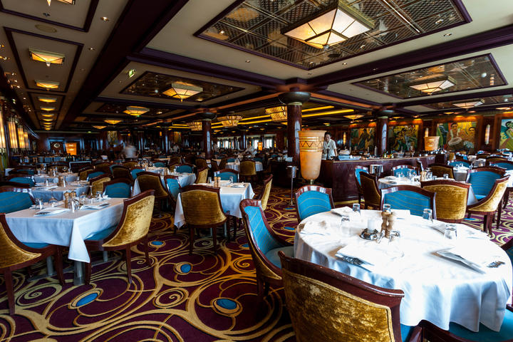 Grand Pacific Dining Room On Norwegian Jade Cruise Ship
