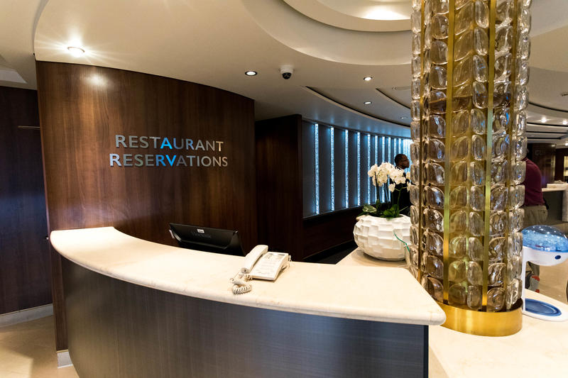 Restaurant Reservations Desk on Norwegian Jade