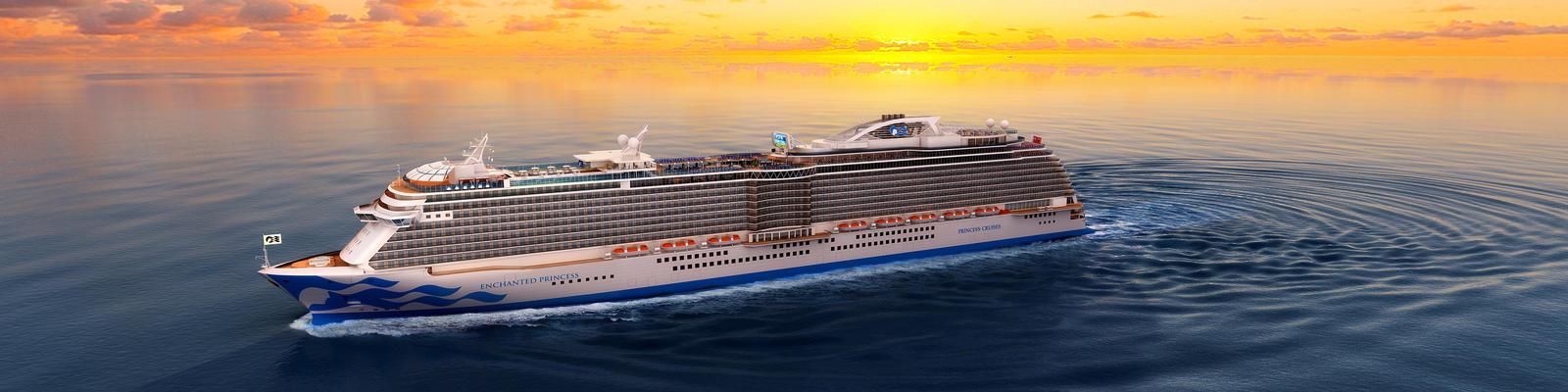 Princess Cruises' Newest Dual-Class Ship, Enchanted Princess, Floats Out