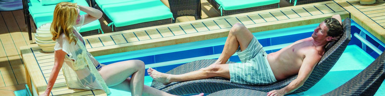 Lounging pool in Norwegian Breakaway's Haven Complex (Photo: Norwegian Cruise Line)