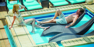 Lounging pool in Norwegian Breakaway's Haven Complex (Photo: Norwegian Cruise Line)
