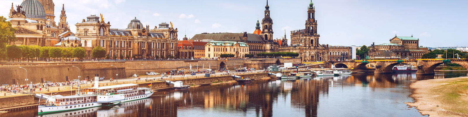 Dresden City Showcasing Elbe River and Augustus Bridge in Germany (Photo: DaLiu/Shutterstock)