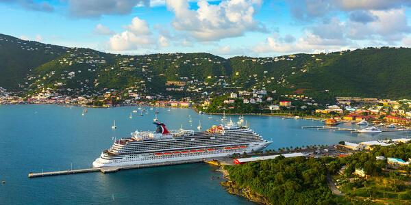 Carnival Vista docked in the Bahamas (Photo: Carnival)