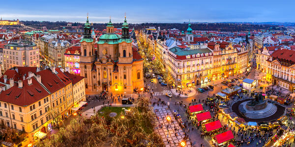 Christmas Market on Old Town Square in Prague, Czech Republic (Photo: Rostislav Glinsky/Shutterstock)