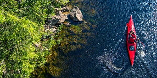 River Kayaker Aerial View (Photo: welcomia/Shutterstock)