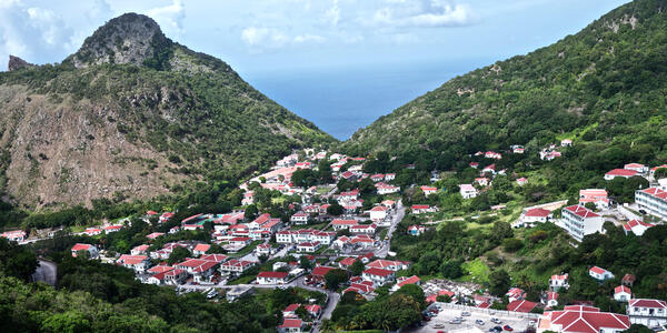Village in Saba, Caribbean (Photo: Erika Bisbocci/Shutterstock)