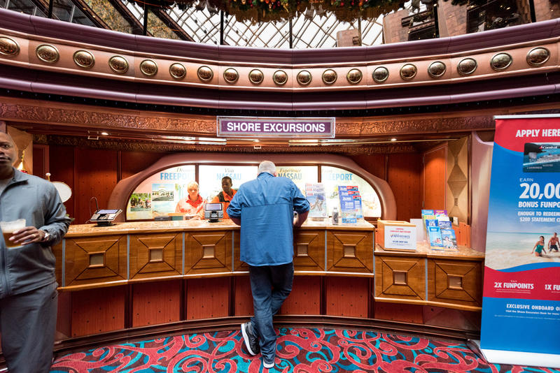 Shore Excursions Desk on Carnival Elation