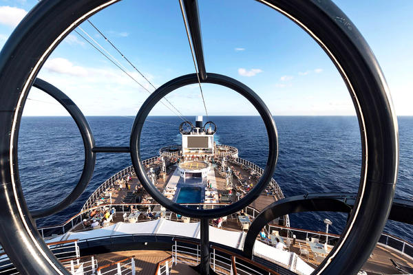 MSC Cruises' Seaside-Class Ziplines (Photo: MSC Cruises)