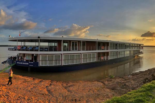 Avalon Saigon at Sunset (Photo: Gina Kramer, Editor, Cruise Critic)